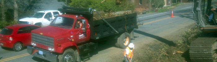 Wood hauling company Asheville